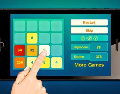 2048 418x328 » Ini Daftar Game Android untuk Uji Kreativitas Kamu