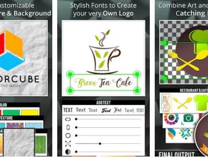 aplikasi android desain logo logo Maker Logo Creator Generator and Designer 418x316 » Ini Alternatif 5 Aplikasi Android Untuk Membuat Desain Logo