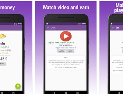 aplikasi android penghasil uang earn money video and apps 418x327 » Aneka Pilihan 5 Aplikasi Android Penghasil Uang Terbaik