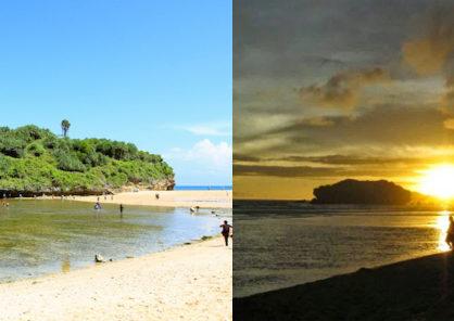 sunset dari lokasi wisata pantai drini gunungkidul jogja 418x296 » Yuk Nikmati Sunset dari Gazebo Pantai Drini Gunung Kidul Yogyakarta