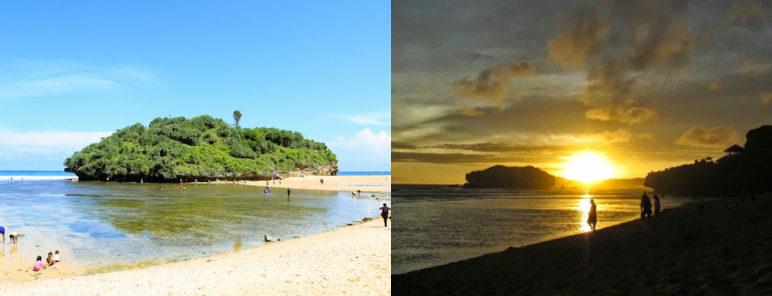 sunset dari lokasi wisata pantai drini gunungkidul jogja 772x296 » Yuk Nikmati Sunset dari Gazebo Pantai Drini Gunung Kidul Yogyakarta