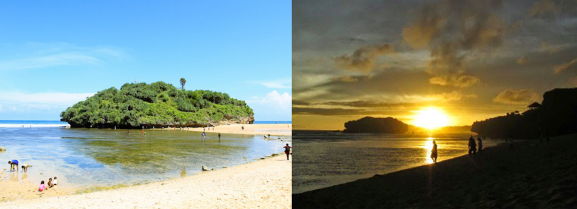sunset dari lokasi wisata pantai drini gunungkidul jogja » Yuk Nikmati Sunset dari Gazebo Pantai Drini Gunung Kidul Yogyakarta